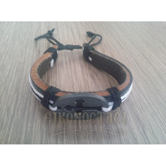 LEATHER BRACELET BLACK 1