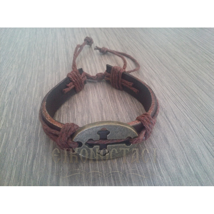 LEATHER BRACELET BROWN / 3