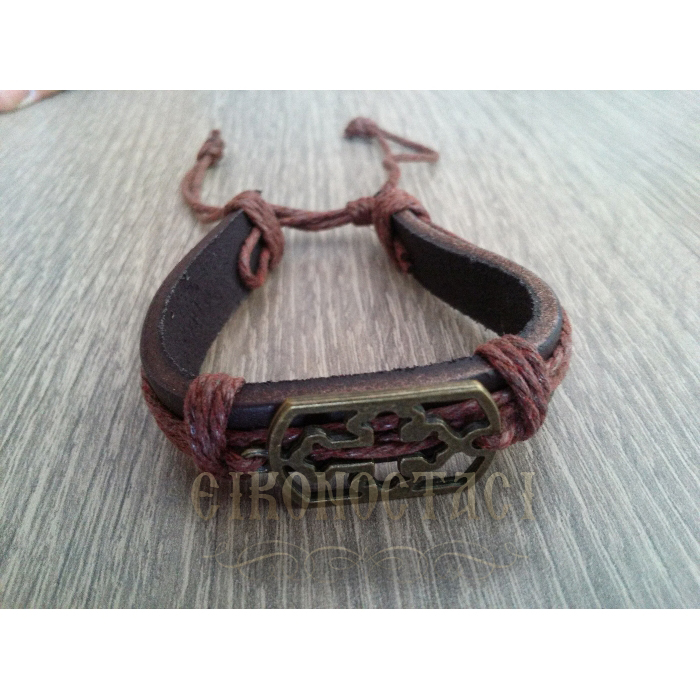 LEATHER BRACELET BROWN / 4