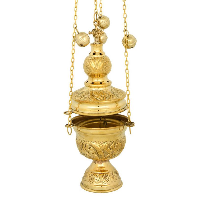 BRONZE GOLD PLATED CHURCH CENSER (127G)