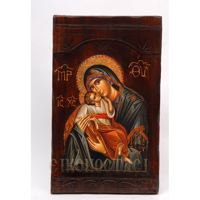 WOODEN ICON X5 VIRGIN MARY & JESUS CHRIST
