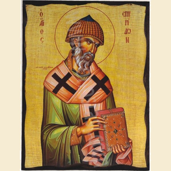 WOODEN ICON 3AP SAINT SPYRIDON