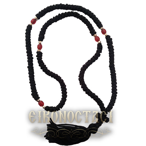 PRAYER ROPE 100 KNOTS FOR NECK BLACK
