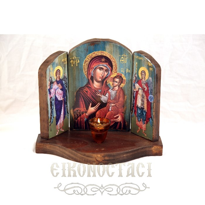 TRIPTYCH 3M WITH VIRGIN MARY JESUS CHRIST AND THE ARCHANGELS