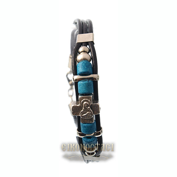 LEATHER BRACELET BLUE