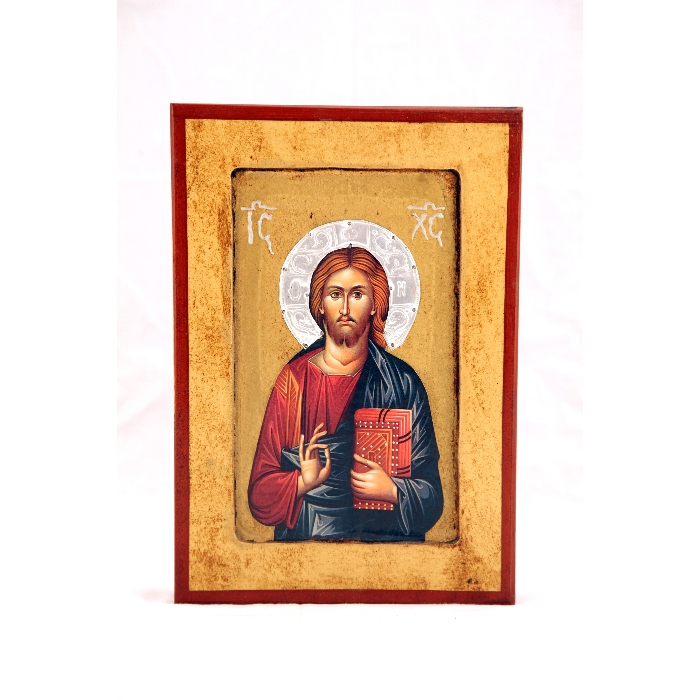 WOODEN ICON 2SA JESUS CHRIST