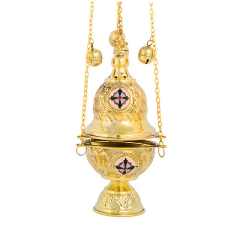 BRONZE GOLD PLATED CHURCH CENSER (377G)