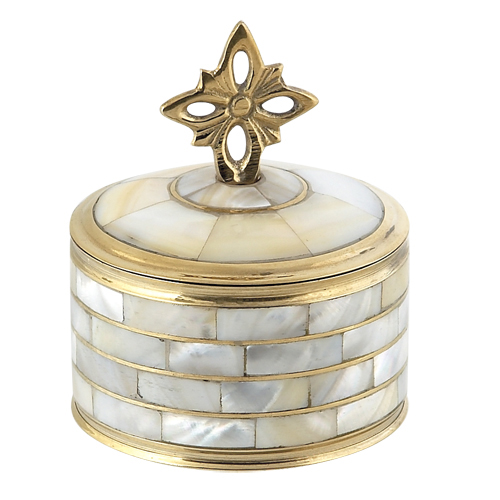 BRASS ORTHODOX STORAGE BOX WITH FILDISI (4084)