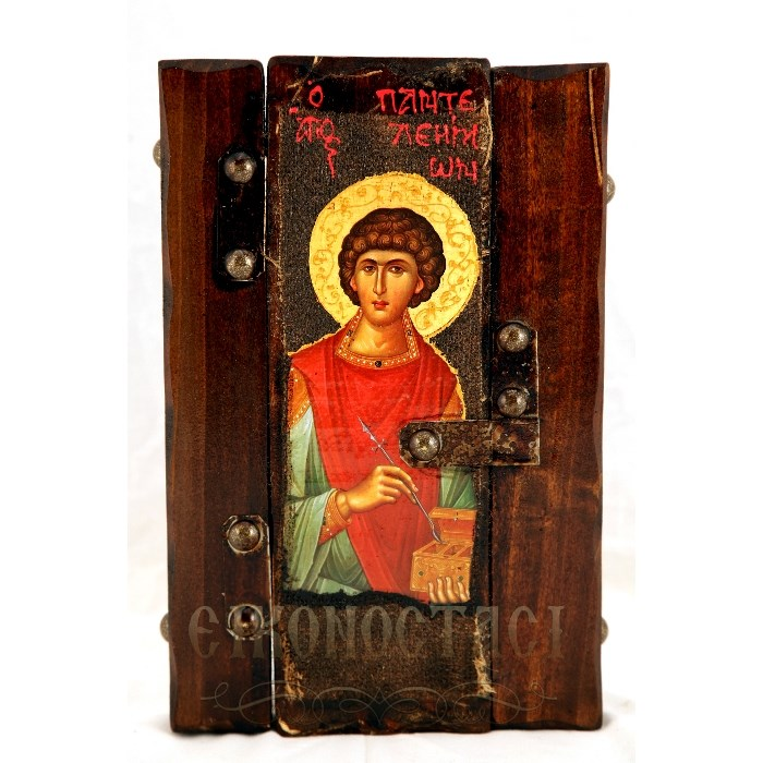 WOODEN ICON SAINT PANTELEIMON P6