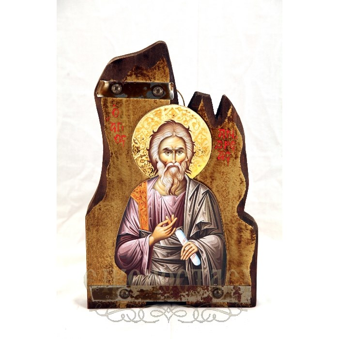 WOODEN ICON SAINT ANDREAS T3