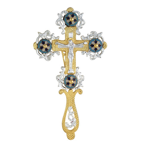 BRONZE GOLD PLATED CROSS 9385GS 24 cm