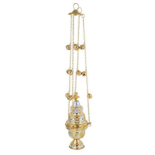 BRONZE GOLD PLATED CHURCH CENSER (9392GS)