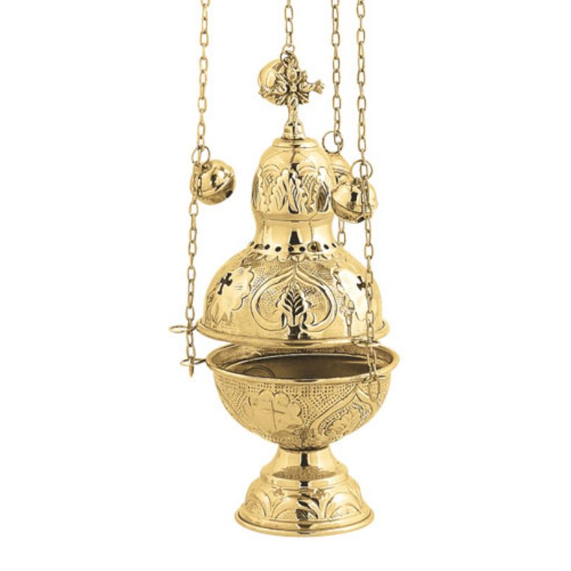 BRONZE GOLD PLATED CHURCH CENSER (9394G)