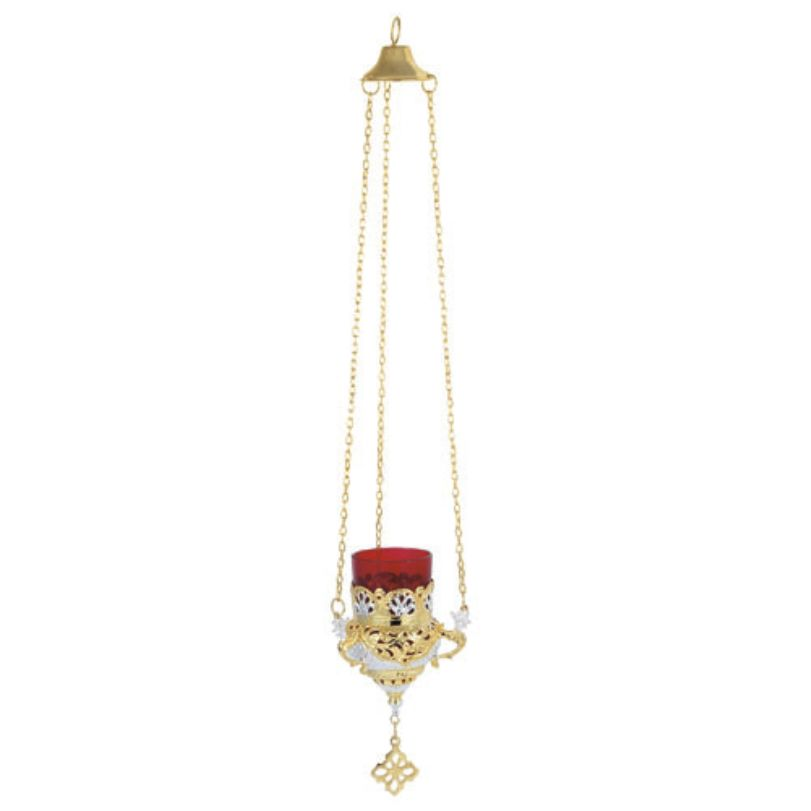 BRONZE GOLD PLATED OIL LAMP (9503GS)