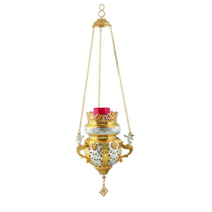 BRONZE,GOLD,PLATED OIL LAMP (9699GS)
