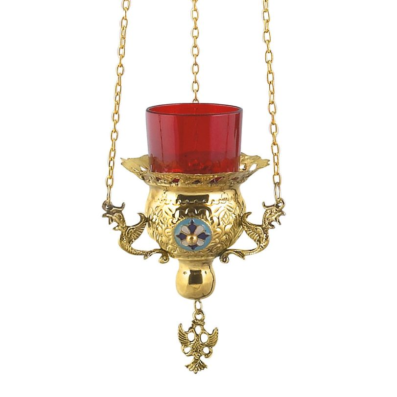 BRONZE,GOLD,PLATED OIL LAMP (9771G)