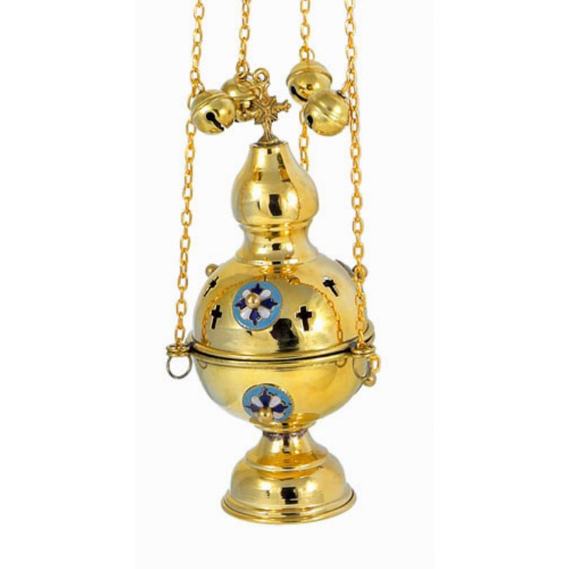 BRONZE GOLD PLATED CHURCH CENSER (9781G)