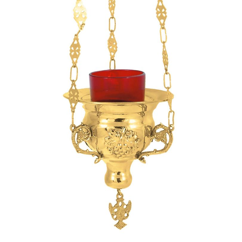 BRONZE,GOLD,PLATED OIL LAMP (9899G)