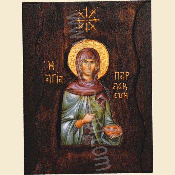 WOODEN ICON SAINT PARASKEVI A1