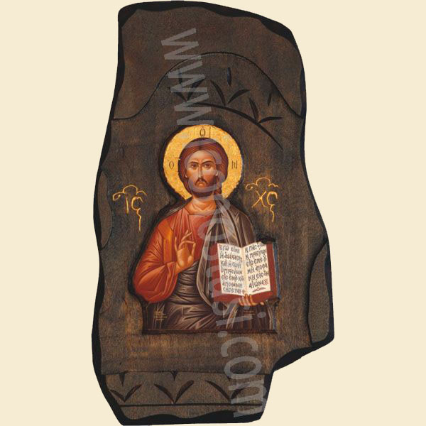WOODEN ICON WITH JESUS CHRIST B3