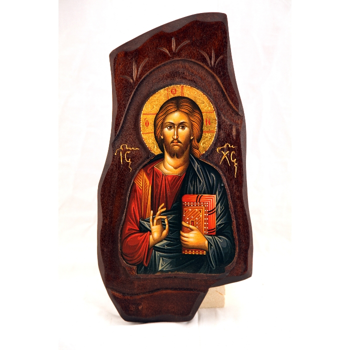WOODEN ICON WITH JESUS CHRIST B2