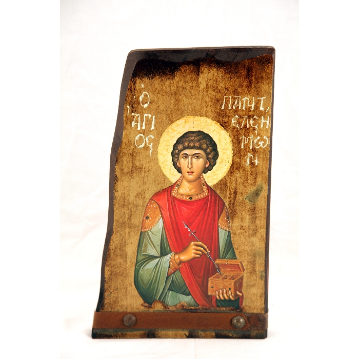 WOODEN ICON SAINT PANTELEIMON B7