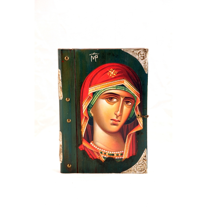 WOOD ICON BOOK 9P VIRGIN MARY