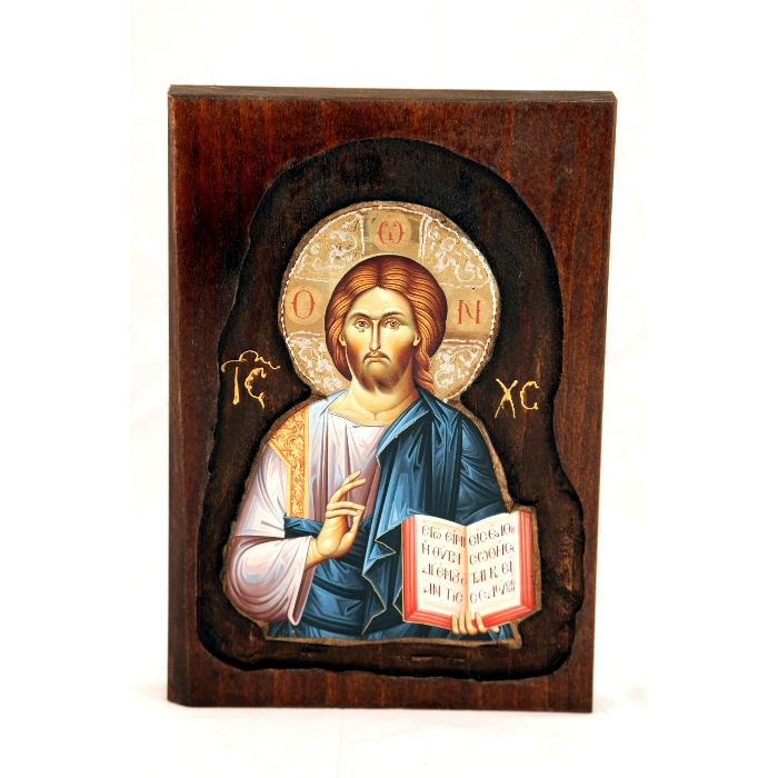WOODEN ICON WITH JESUS CHRIST D2