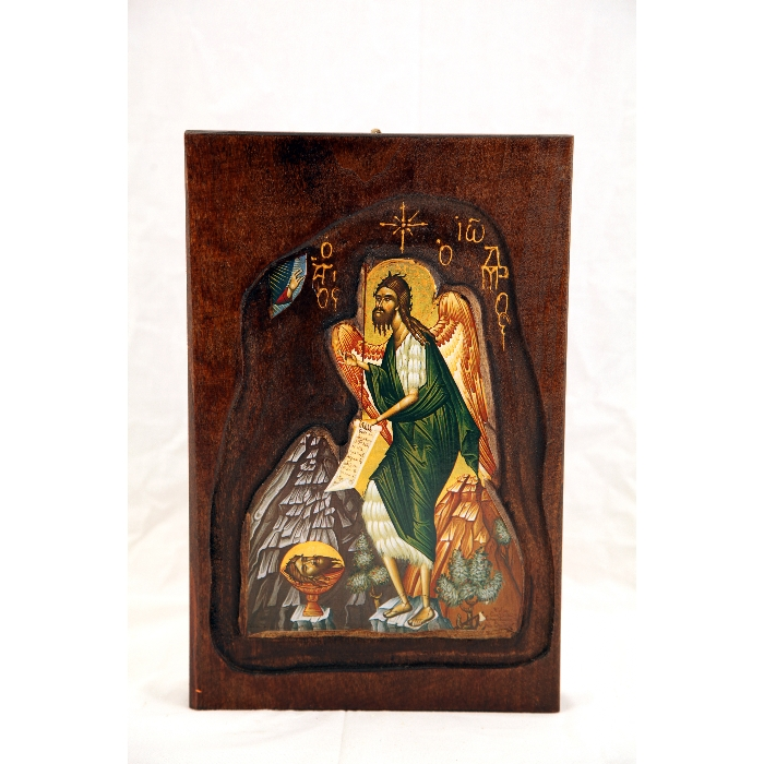 WOODEN ICON SAINT JOHN D3