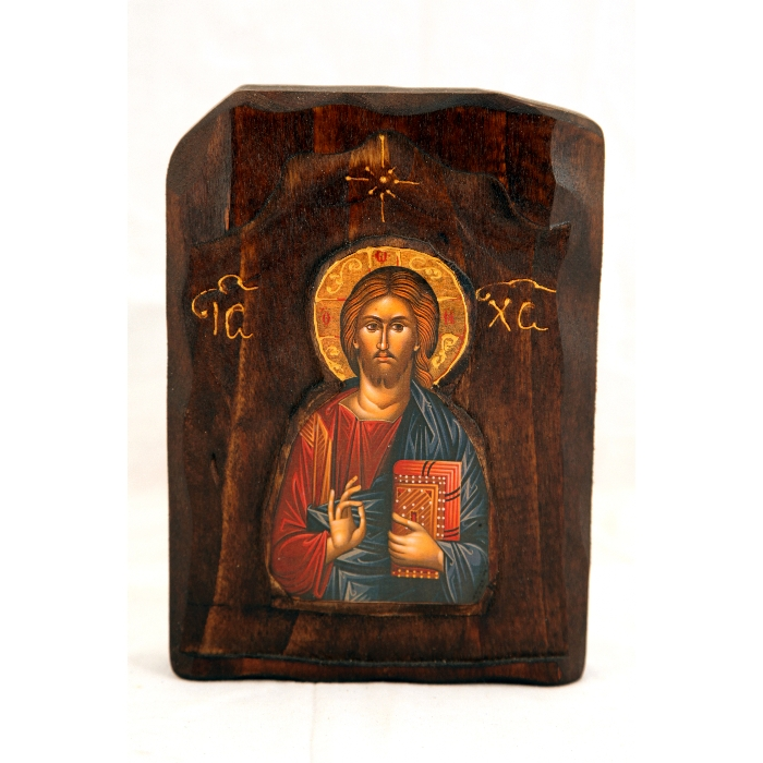 WOODEN ICON C2 JESUS CHRIST