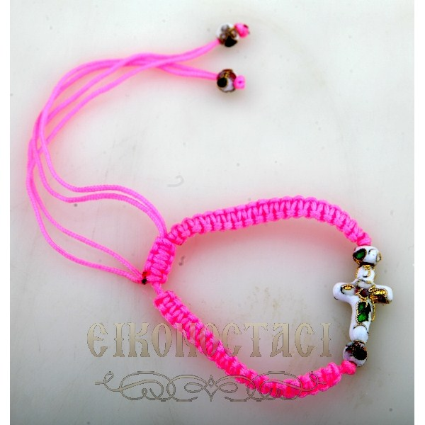 PINK BRACELET WITH CROSS