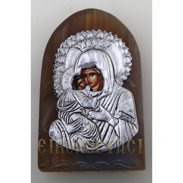 AGATE MAGNET WITH ORTHODOX ICON no.7