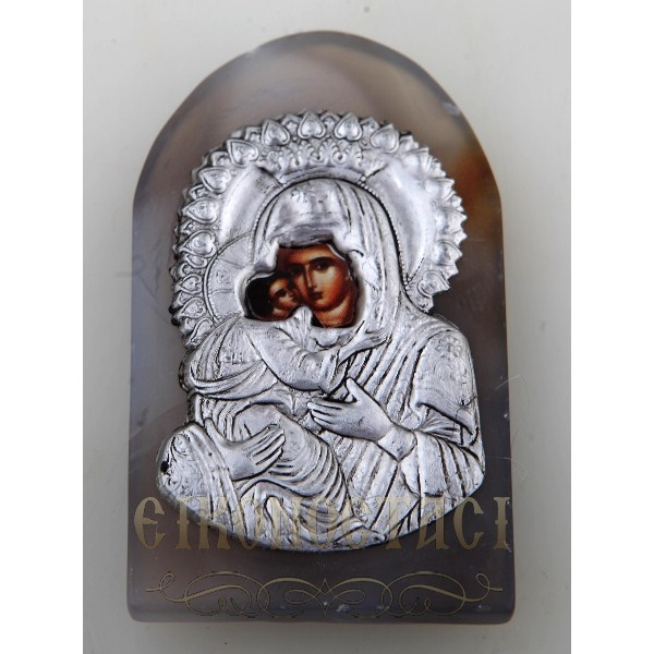 AGATE MAGNET WITH ORTHODOX ICON no.8