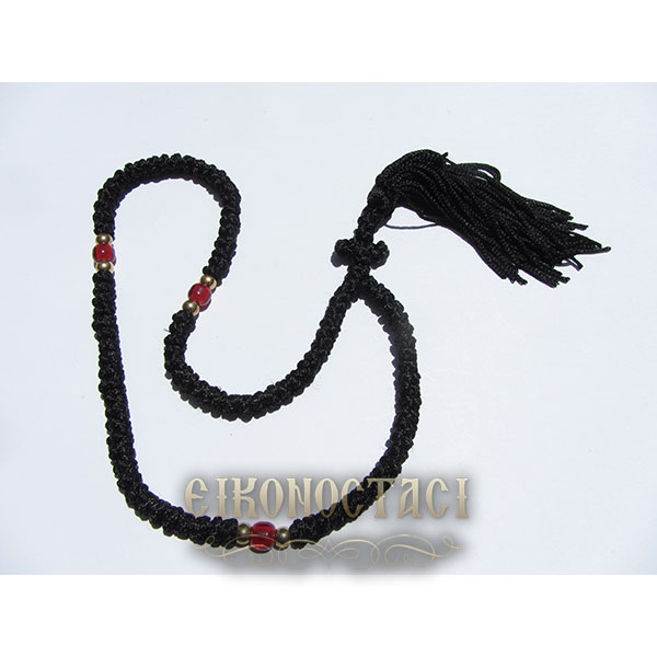 PRAYER ROPE 100 KNOTS BLACK/2