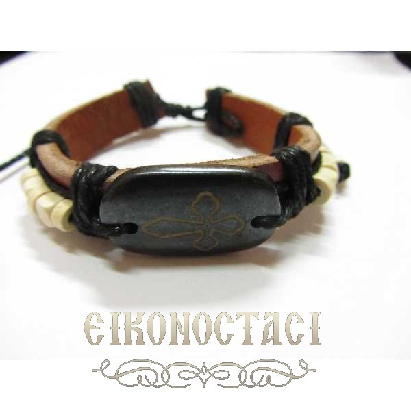 LEATHER BRACELET BROWN / 2