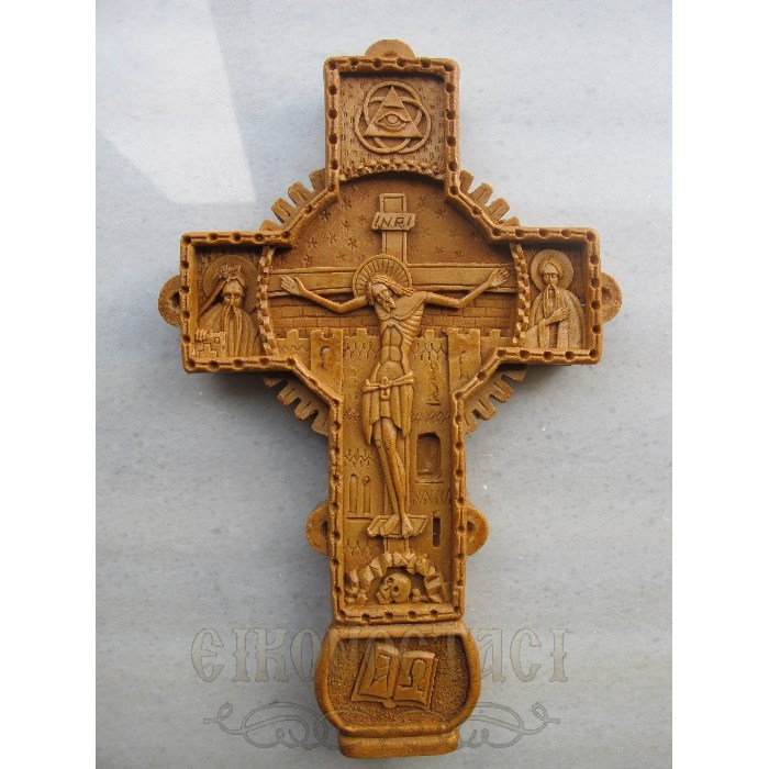 MONASTIC CARVED WAX CROSS