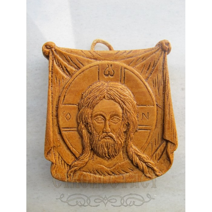 MONASTIC WAX ICON HOLY HANDKERCHIEF 1