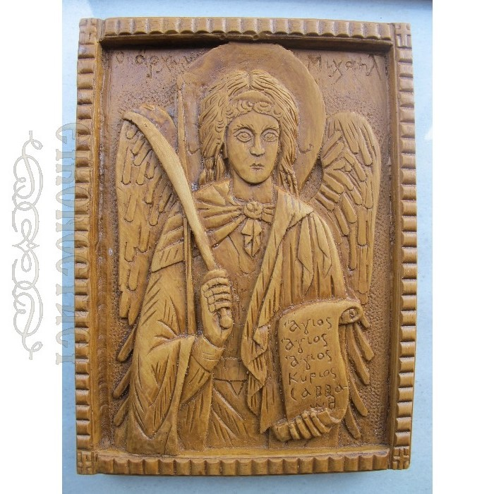 MONASTIC WAX ICON ARCHANGEL MICHAEL