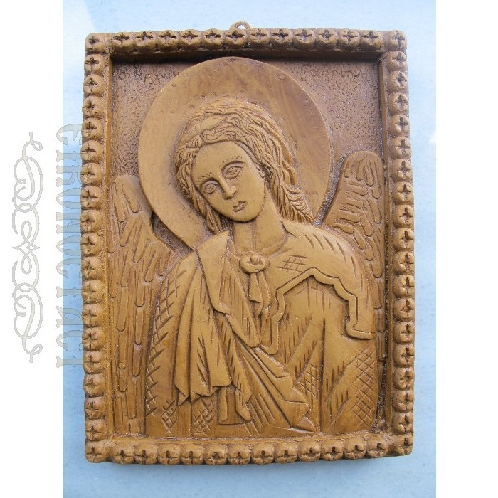 MONASTIC WAX ICON ARCHANGEL GABRIEL