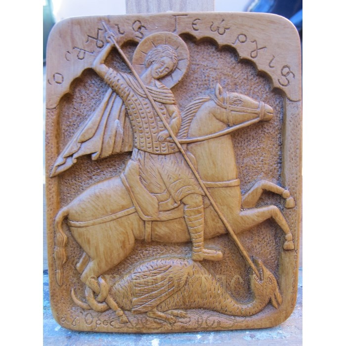 MONASTIC WAX ICON SAINT GEORGE