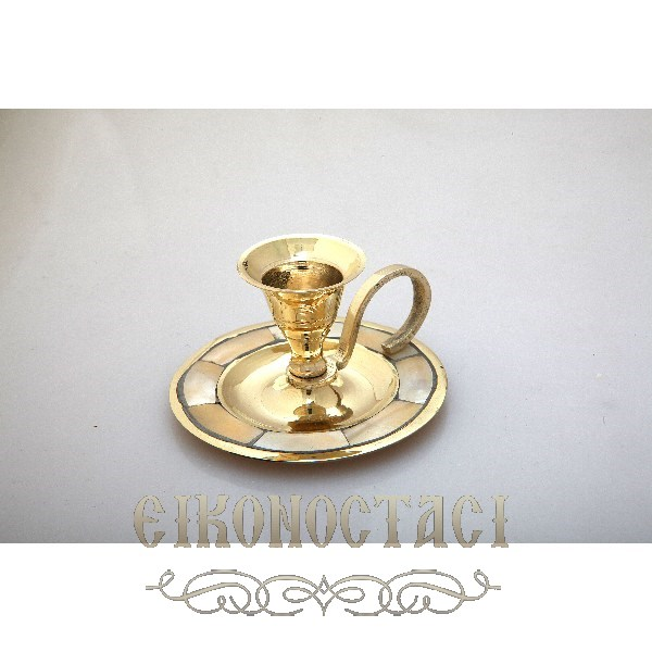 CHURCH ORTHODOX BRONZE CANDLESTICK (9132)