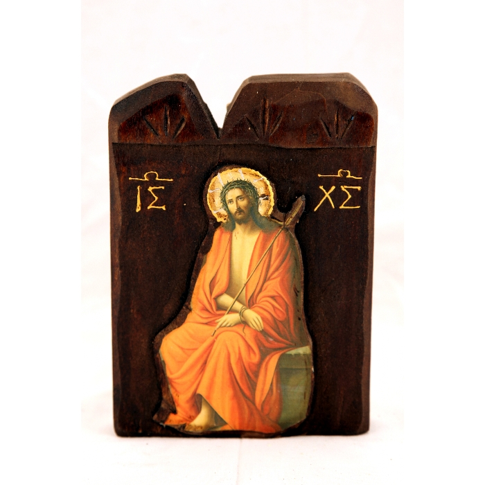 WOODEN ICON L1 JESUS CHRIST