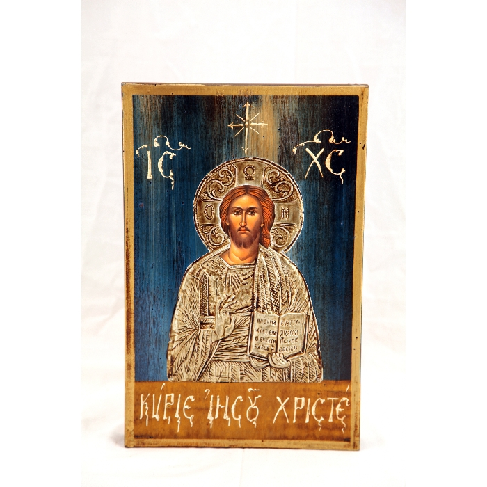 WOODEN ICON M12  JESUS CHRIST