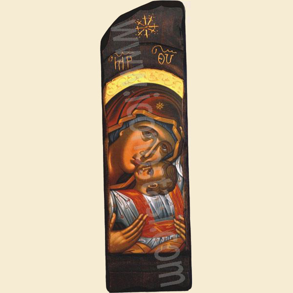 WOODEN ICON N10 VIRGIN MARY & JESUS CHRIST