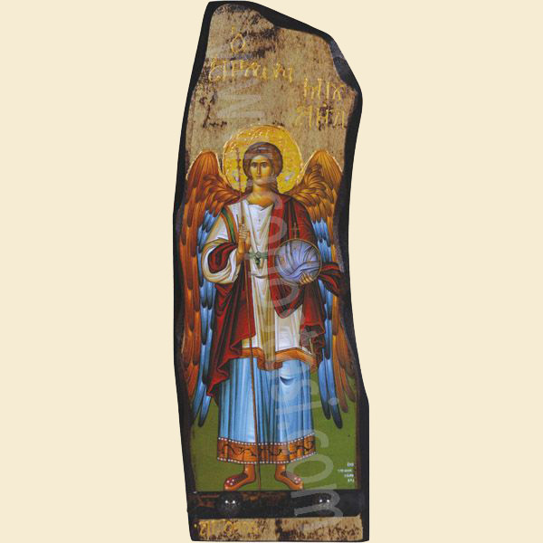 WOODEN ICON N18/2 WITH ARCHANGEL MICHAEL