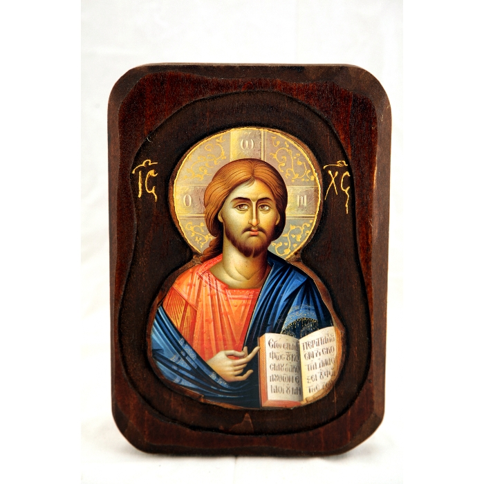 WOODEN ICON WITH JESUS CHRIST O2