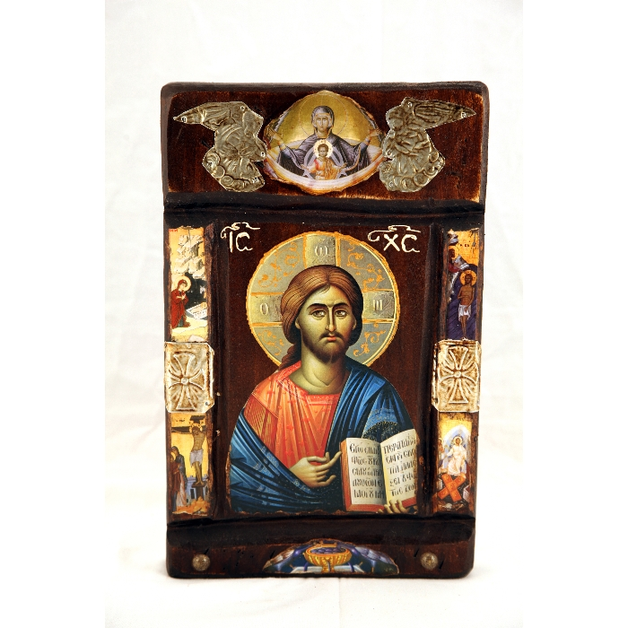 WOODEN ICON WITH JESUS CHRIST P13
