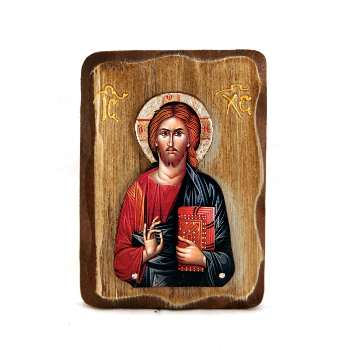 WOODEN ICON WITH JESUS CHRIST R2