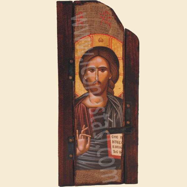 WOODEN ICON WITH JESUS CHRIST P5