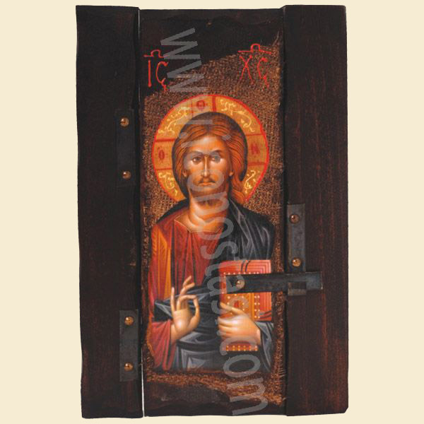 WOODEN ICON P6 JESUS CHRIST